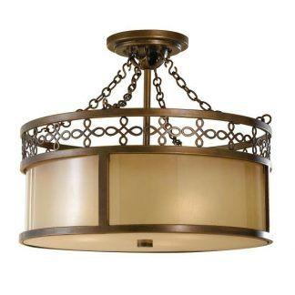 Metalowa lampa beżowo brązowa do sypialni