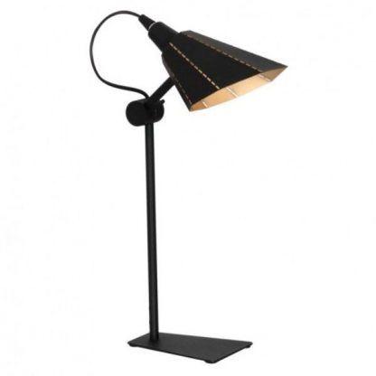 Metalowa lampa w czarno złotym kolorze