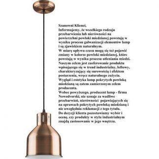 metalowa lampa wisząca industrialna