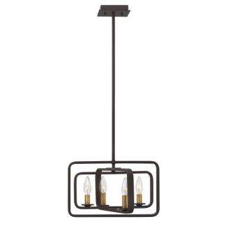 metalowa lampa wisząca rustykalna ze świeczkami