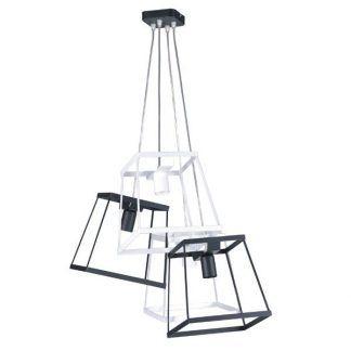metalowa lampa wisząca wiązka kloszy geometryczna