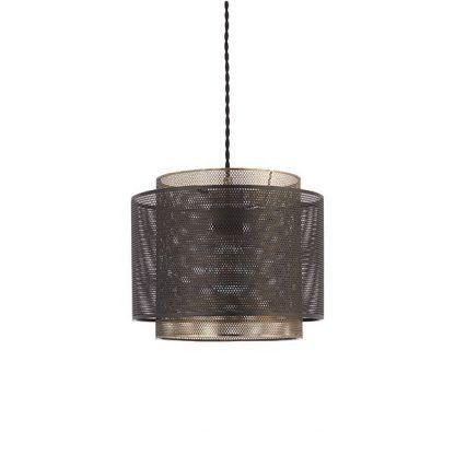 metalowa lampa wisząca z siatki industrialna