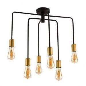 metalowa lampa wisząca złote oprawki