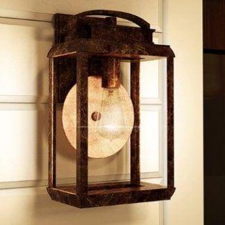 Metalowa oprawa kinkietu zewnętrznego szklany klosz