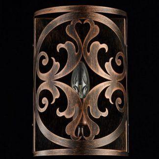 metalowy brązowy kinkiet rustykalny