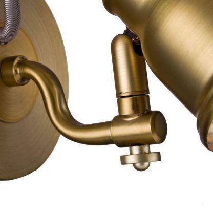 metalowy złoty kinkiet w stylu retro do sypialni