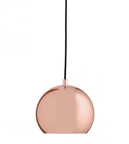 miedzian lampa wisząca ball - okrągła nad stolik