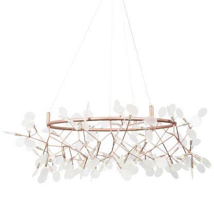 Miedziana lampa do jadalni nad stół