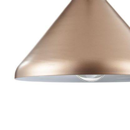 miedziana lampa wisząca do jadalni nowoczesna