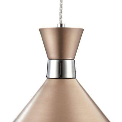 miedziana lampa wisząca do salonu