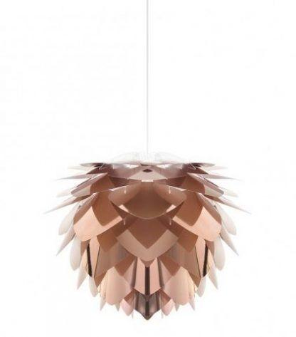 miedziana lampa wisząca z płatków - nowoczesny design