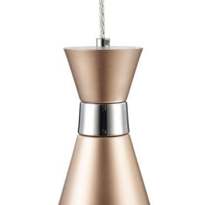 miedziana nowoczesna lampa wisząca do jadalni