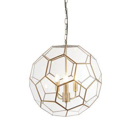 miele geometryczna lampa wisząca szkło i złoto
