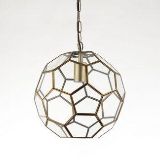 miele lampa wisząca szklany wielościan złota