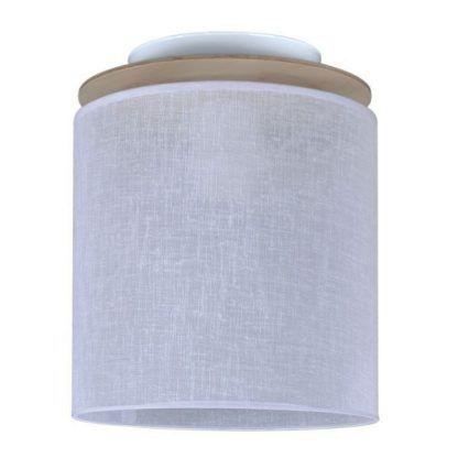 Minimalistyczna lampa z jasnym abażurem do sypialni