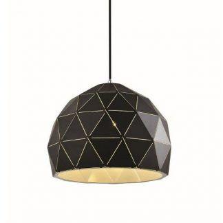 minimalistyczna nowoczesna lampa wisząca do sypialni - ciemna