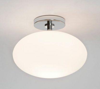 mleczna lampa sufitowa kula owalna szklana