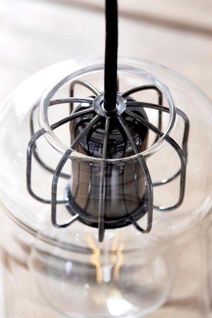 mocowanie klosza drucianego do lampy wiszacej