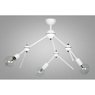 molekularna lampa sufitowa biała nowoczesna