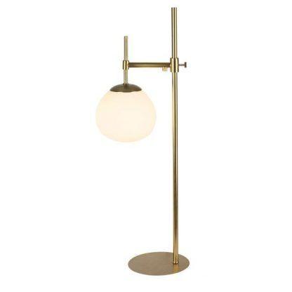 Mosiężna lampa stołowa Erich z regulacją wysokości