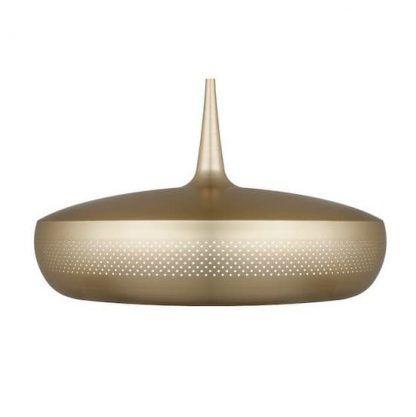 mosiężna lampa wisząca nad stół w kuchni