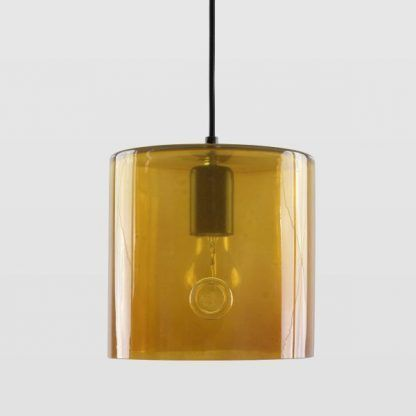 musztardowa lampa wisząca do salonu