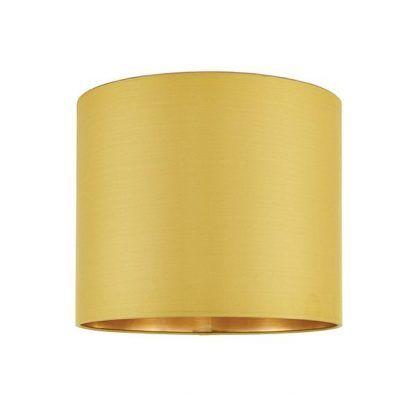 musztardowy abażur do lampy stołowej