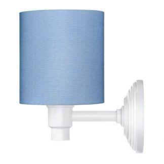 niebieski kinkiet do pokoju dziecięcego - z abażurem