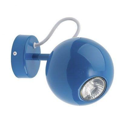 niebieski kinkiet kula do pokoju dziecka