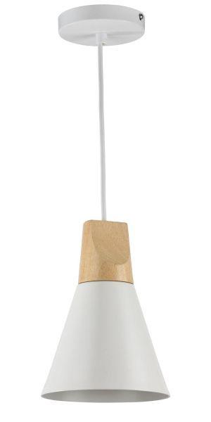nieduża lampa wisząca do salonu biały klosz