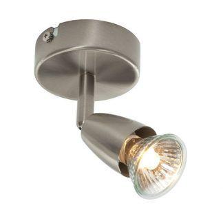 nieduży srebrny reflektor sufitowy do kuchni