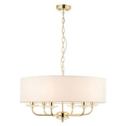 nixon duża złota lampa wisząca świecznikowa