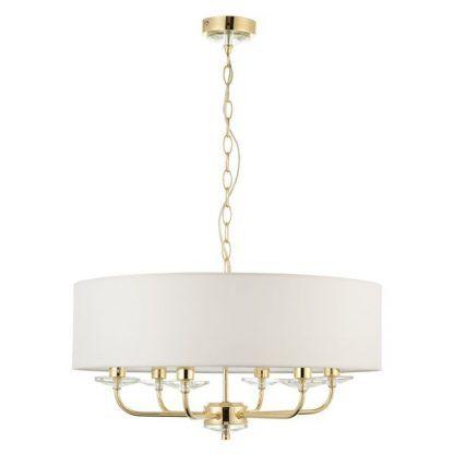 nixon świecznikowa lampa wisząca z białym abażurem