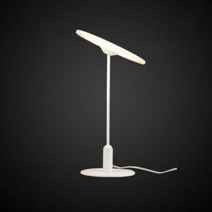 nowoczesna biała lampa stołowa do sypialni