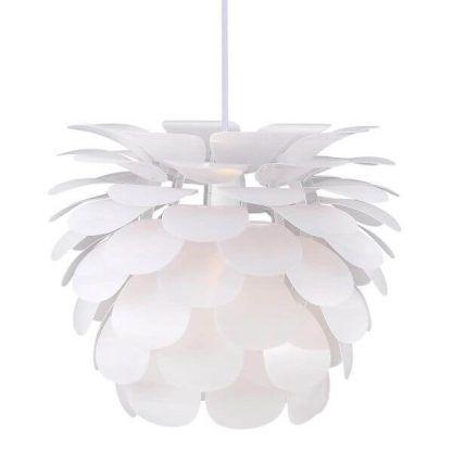 Nowoczesna biała lampa w kształcie kwiatu