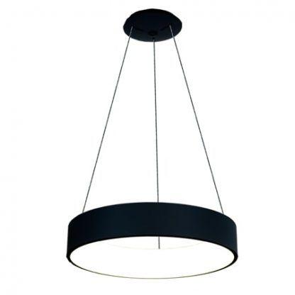 nowoczesna czarna lampa wisząca led do sypialni