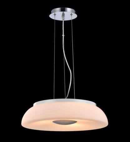 Nowoczesna lampa do salonu z mlecznego szkła