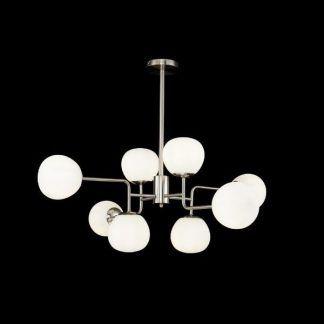 nowoczesna lampa nad stół szklane klosze kule