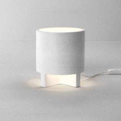nowoczesna lampa stojąca biała z włącznikiem - designerska