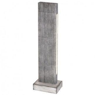 nowoczesna lampa stołowa drewniana listewka