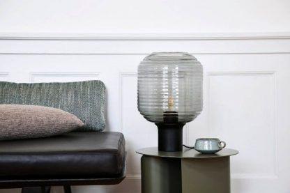 nowoczesna lampa stołowa szklany klosz do salonu