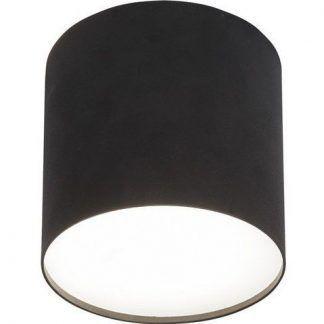 nowoczesna lampa sufitowa czarna szeroka tuba