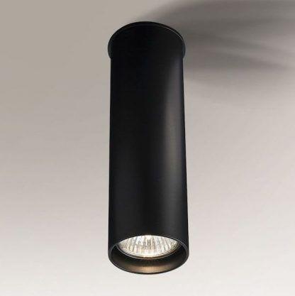 nowoczesna lampa sufitowa czarna tuba