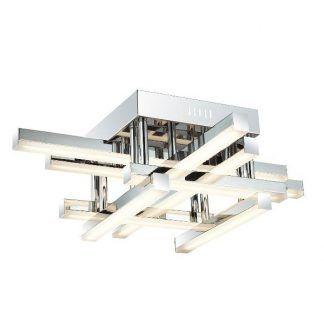 nowoczesna lampa sufitowa ledowa z pręcikami