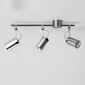 nowoczesna lampa sufitowa na szynie - 3 reflektorki