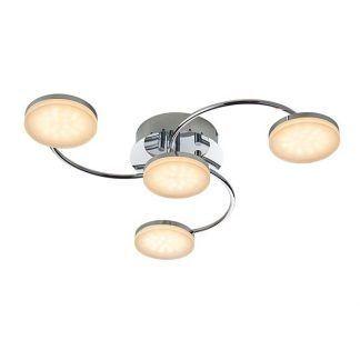nowoczesna lampa sufitowa z płaskimi kloszami