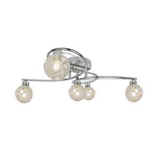 nowoczesna lampa sufitowa ze szklanymi kulami