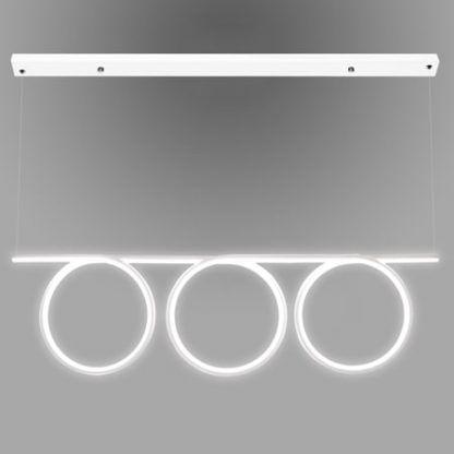 nowoczesna lampa wisząca biała spirala led do jadalni