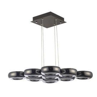 nowoczesna lampa wisząca do biura czarny chrom