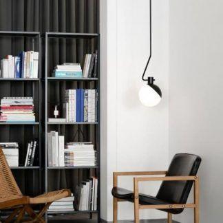 nowoczesna lampa wisząca do gabinetu aranżacja